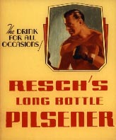 Resch's Pilsener pub poster of boxing event